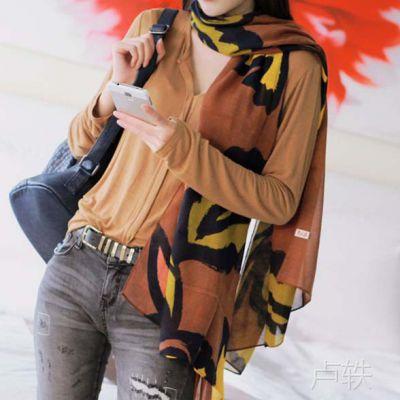 2014新款韩国代购饰品批发代理M0659时尚个性大叶子艺术女士围巾
