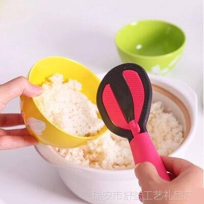 厨房多功能立式不粘饭勺厨房小工具淘米打蛋饭勺厨房小工具