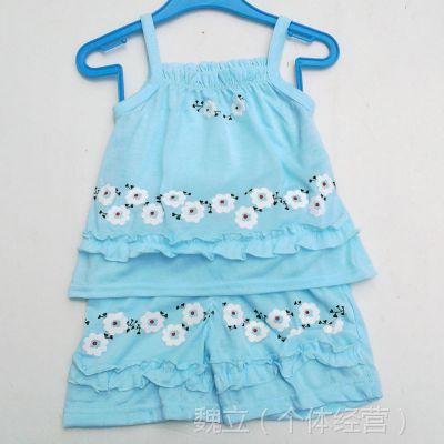 热销2014夏装新款童套装 梅花吊带裙套装 女裙套装 女童套装批发