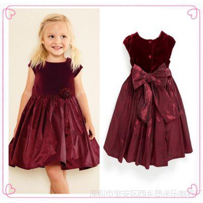 外贸童装批发 2015年女童韩版高贵时尚款公主连衣裙 礼服裙
