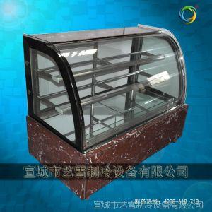 供应艺雪保鲜冷藏设备 圆弧蛋糕柜 后移门蛋糕水果慕斯面包西点展示柜