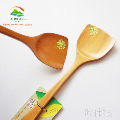 生产供应 天然木制锅铲 黄金铲  韩国不沾锅专用木铲 炒菜不留痕