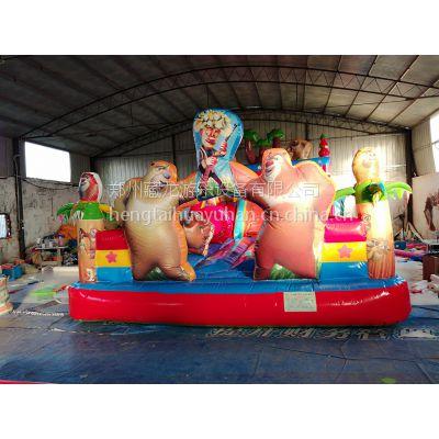 充气型儿童玩具城堡蹦床 宝宝玩的充气弹跳床充气滑梯 充气蹦床适合多大孩子