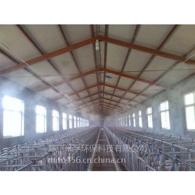 养猪场全猪舍喷雾降温消毒机械设备,米孚养殖消毒设备