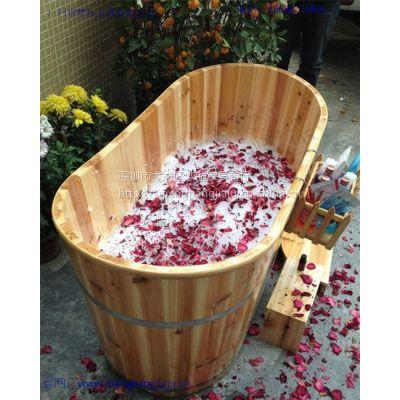供应木浴桶成人浴桶泡澡洗澡木桶浴缸桑拿沐浴桶安全无渗漏洗澡木桶