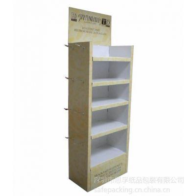 供应香港展會帶鐵掛鉤塑料掛鉤的紙展示架紙貨架