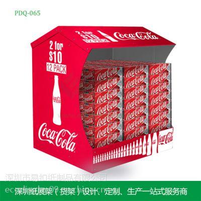 可口可乐纸展示架 可乐堆头 厂家直销 超市商场促销纸展示架