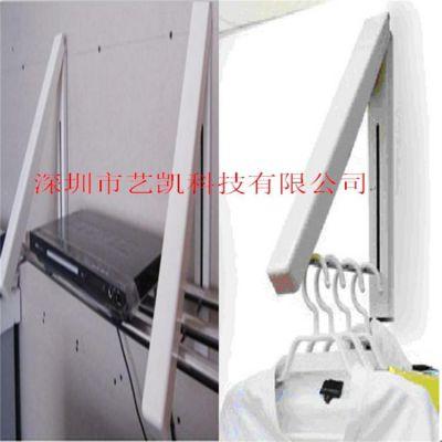 艺凯多功能架 伸缩折叠衣架 金属喷粉定制非标架 墙壁多功能衣架