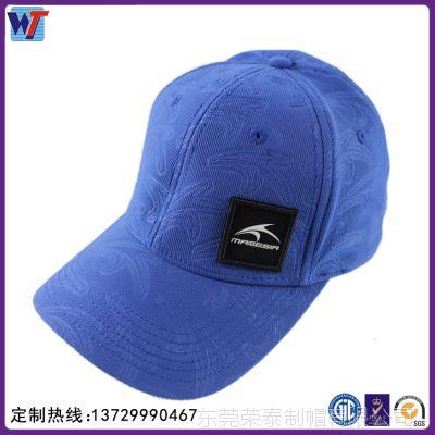 时尚压花贴布绣六页棒球帽 高档压花图案成人帽户外遮阳帽