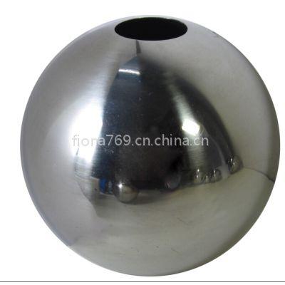 B50SS304不锈钢空心球精品抛光 直径50mm冲孔, 欧式扶手机械配件圆球