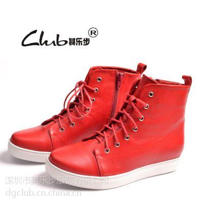 2016春季新款真皮女靴 品牌女鞋韩版马丁靴 拉链皮靴广州短靴