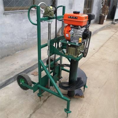 汽油打孔机 富兴手提式汽油挖坑机 小型轻便打孔机