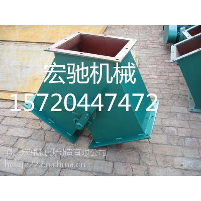 泊头手动三通分料器,正三通,侧三通报价|环保系统工程|宏驰机械