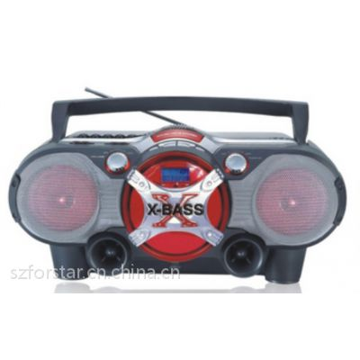 便携式多功能播放器Portable CD boombox/FORSTAR FSD856