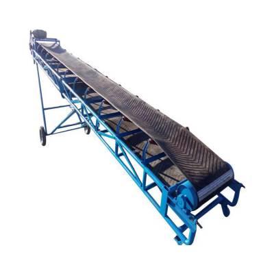桶装水装车皮带机 爬坡式皮带输送机 运行平稳结实耐用