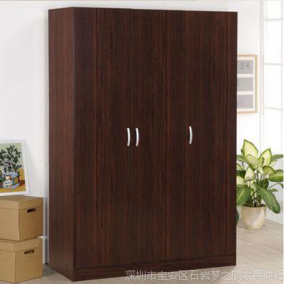 梦航环保家具 现代板式加高衣柜宜家组合木质四门三门两门衣柜