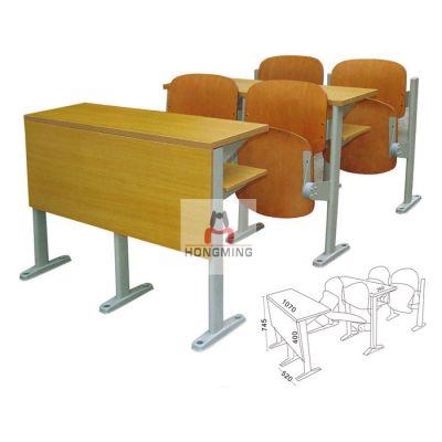 供应阶梯教室课桌椅、大学教室课桌椅 钢木结构课桌椅
