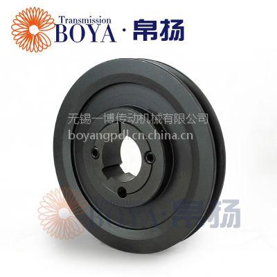 皮带轮减速机采购spa200-01选无锡帛扬锥套皮带轮厂家