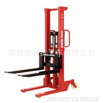 供应厂价直销鸿福1-2吨手动液压升高车 手动液压堆高车 液压堆高机
