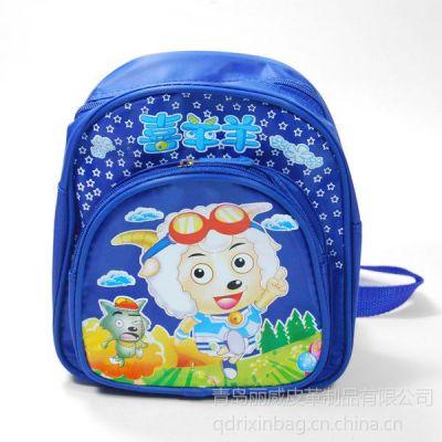 供应青岛中学生书包双肩包厂家 帆布学生背包定做 韩版书包工厂