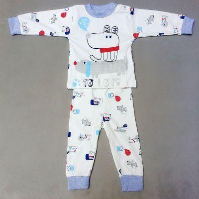 厂家直销 商丘儿童内衣针织 儿童秋衣秋裤套装纯棉高腰