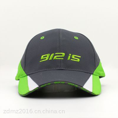 仲达厂家定做夏季运动帽 驳片撞色棒球帽 户外防晒速干鸭舌棒球帽