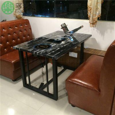 汉釜宫烤尚宫烧烤餐桌椅定做厂家 韩式无烟烧烤桌椅