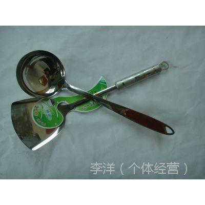 柄勺  不锈钢五厘无磁加宽加厚漏勺 铲 捞干勺 防滑防烫手柄