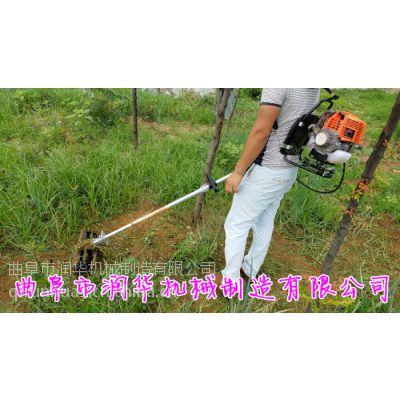 润华斜挎式汽油剪草机 背负式多功能旋耕机