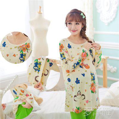 新款秋冬季孕妇月子服套装哺乳装睡衣产后哺乳衣家居 喂奶衣