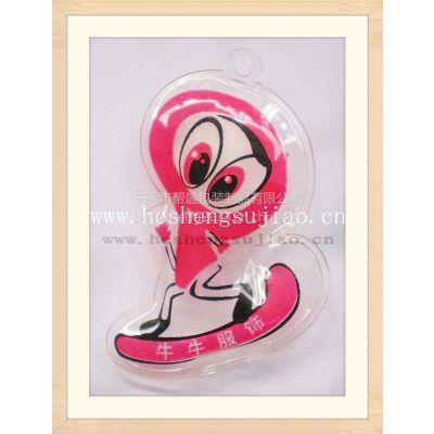 专业生产塑胶吊牌 PVC羽绒充气吊牌 服装品牌吊牌