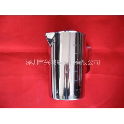 厂家直销SUS316不锈钢量杯量筒量具500ml-3000ml内外冲压刻度