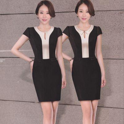 夏季职业女士连衣裙设计厂家定做修身版气质女装裙厂家定做