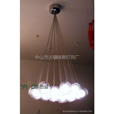 供应现代简约玻璃客厅吊灯 卧室灯 书房灯 餐厅灯灯饰灯具H2038A