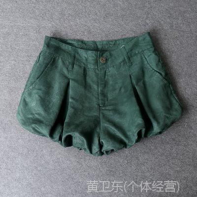 外贸原单女装日单 麂皮绒 灯笼短裤 优质低价女装批发E351  0.17