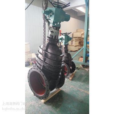 上海湖泉 Z945X-16T DN200铸铁法兰暗杆电动闸阀