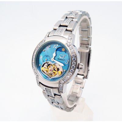稳达时品牌 女款镶钻全自动机械手表 深圳手表厂家定做代工生产