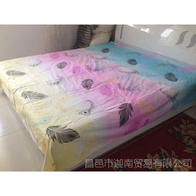 全棉粗布床单  纯棉凉席  加厚高密精梳棉  印花床单 山东老粗布