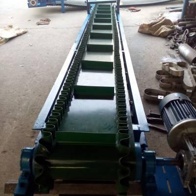 汇众铝型材波状裙边式输送机 大倾角大蒜红枣上料用传送机