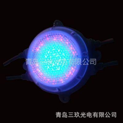 供应厂家直销 批发专营 红黄蓝绿白七彩 圆形方形直径80mmled点光源