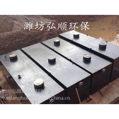江山中型医院污水设备,弘顺碳钢材质为创卫加油