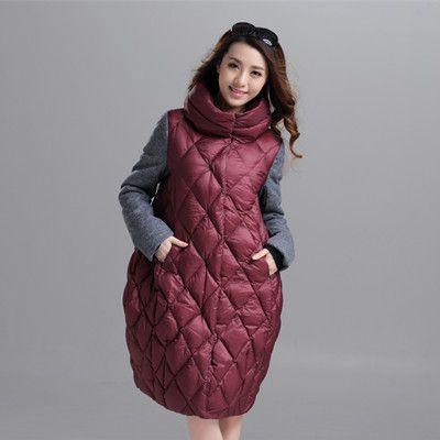 欧洲站时尚羽绒服 长款保暖羽绒服S-GERTR1540女式羽绒服