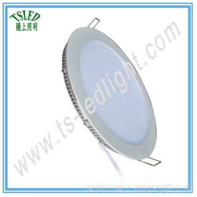 9W 4寸2835LED超薄圆形面板灯 天花筒灯 厂家直销集成吊顶平板灯