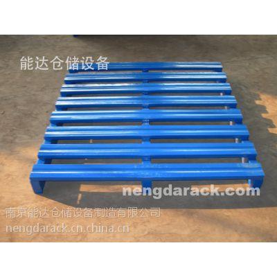 南京能达托盘定制 矩形管立柱式钢托盘 四面进叉单面钢托 双向进叉镀锌钢凹面托盘