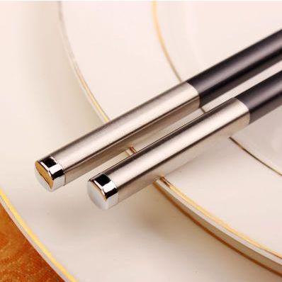 高档酒店用品不锈钢合金筷子 家用不发霉消毒筷子 餐具商务礼品筷