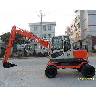 全国供应新源挖掘机XY75W-8、轮式挖掘机低价出售