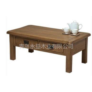 供应山东实木家具 华谊家具 客厅系列 简欧301 1.3米纯实木茶几