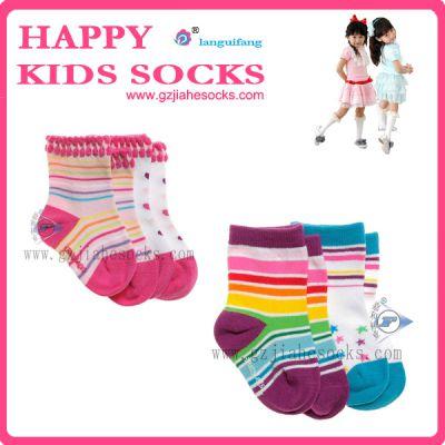 厂家批发提花全棉外贸男女童袜 100全棉婴儿袜子