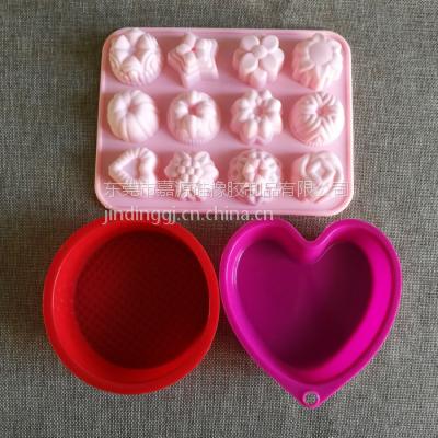 厂家OEM硅胶烘焙蛋糕模 布丁果冻DIY模具 微波炉用蛋糕烤盘