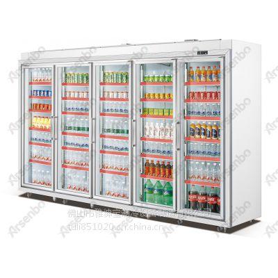 雅绅宝FG32L5F豪华型五门平头分体饮料保鲜展示柜多少钱一台 商用冷柜